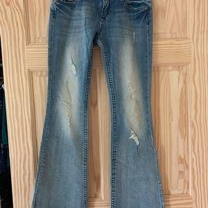 Express Rerock Flare Jeans